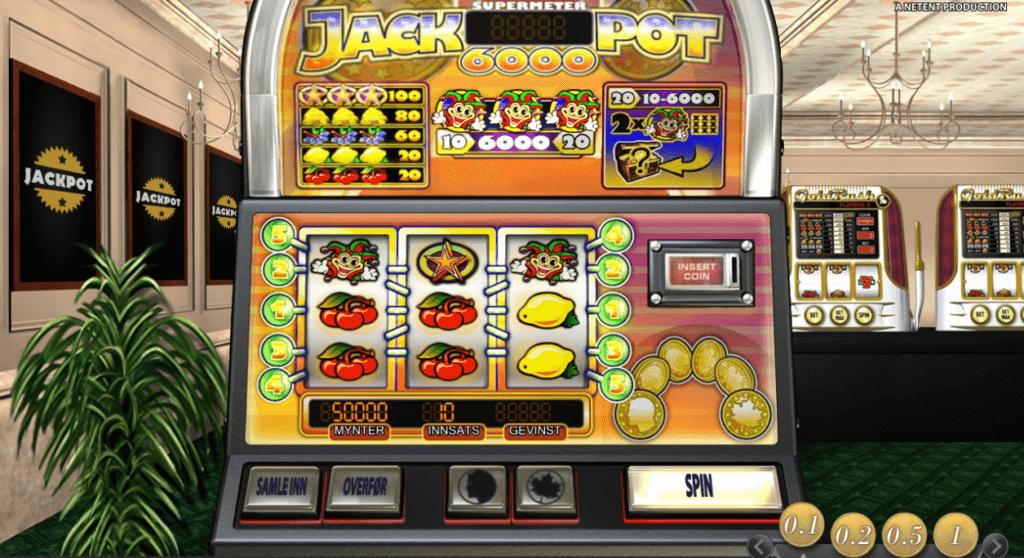 Jackpot6000 spilleautomat anmeldelse