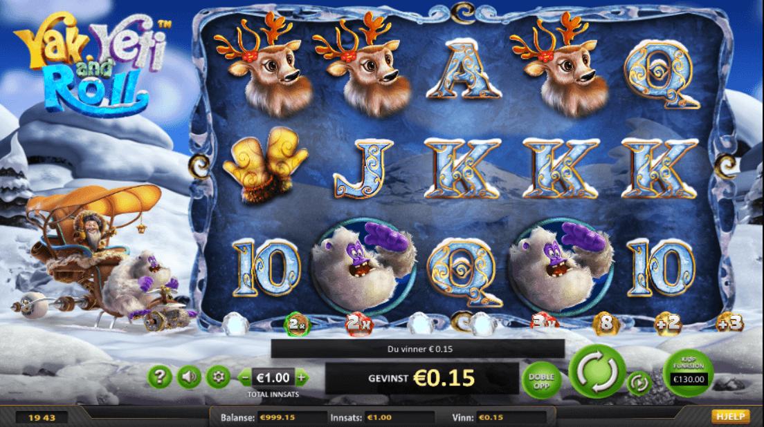 Yak Yeti and Roll spilleautomat